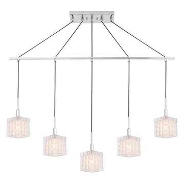 Woodbridge Lighting Candice Linear Pendant, Swizzle Cylinder