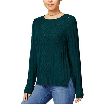 Hippie Rose Womens Cutout Pullover Sweater