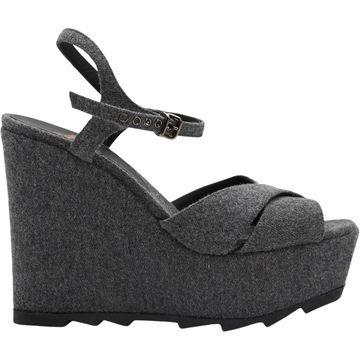 Castaner Grey Cloth Sandals