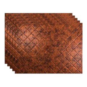 Fasade Quilted Moonstone Copper 15-square Foot Backsplash 15 Sq Ft Kit