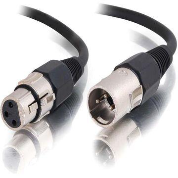 C2G 25ft Pro-Audio XLR Male to XLR Female Cable - XLR Male - XLR Female - 25ft - Black