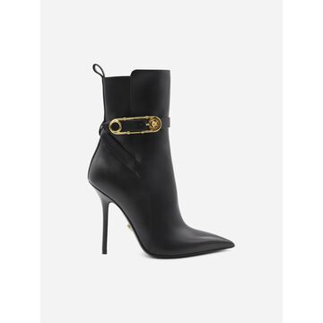 Versace Safety Pin Leather Boots