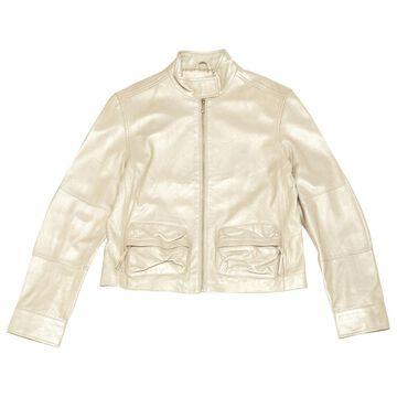Armani Exchange Silver Leather Jackets