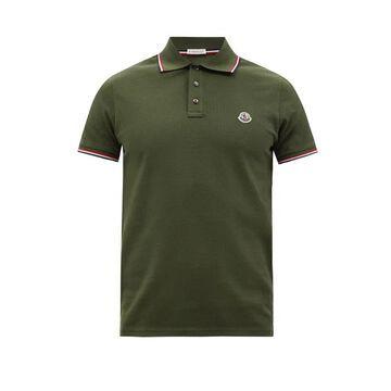 Moncler - Logo-applique Cotton-pique Polo Shirt - Mens - Khaki