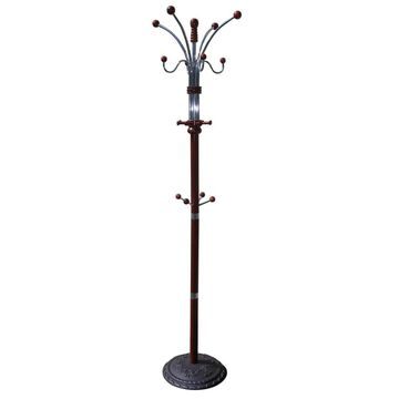 ORE International Cherry 12-Hook Coat Stand in Black   R685CH