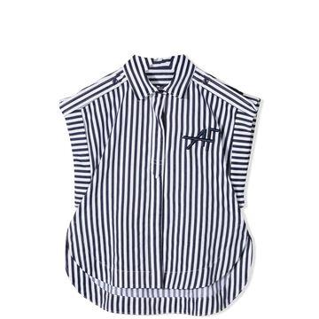Alberta Ferretti Sleeveless Striped Shirt