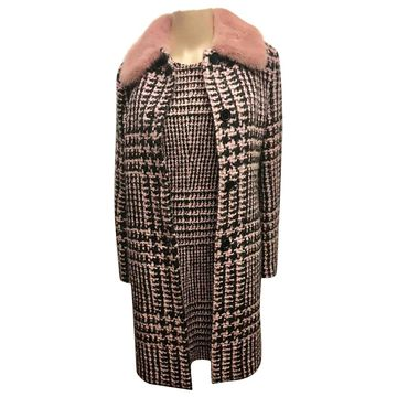 Ermanno Scervino Pink Wool Coats