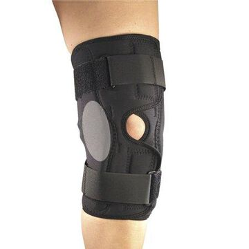 OTC Orthotex Knee Stabilizer Wrap with ROM Hinged Bars, Black, 3X-Large