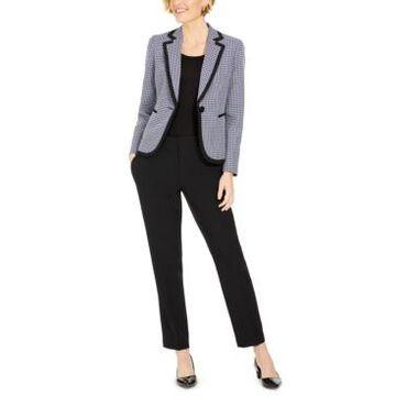 Le Suit Plaid Pants Suit