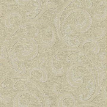 Kenneth James Nijah Gold Scroll Wallpaper