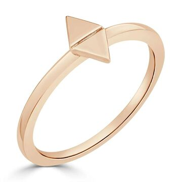 Auriya 10K Gold Stackable Geometric Triangle Modern Ring