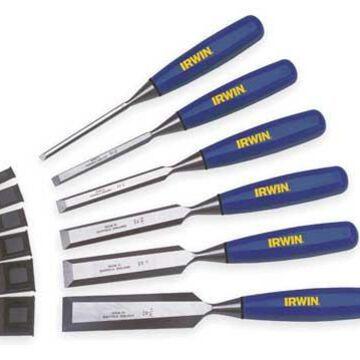 IRWIN MARPLES M444SB6N Wood Chisel Set,6 PC,1/4 To 1 In Tip
