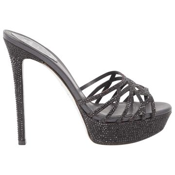 Rene Caovilla Black Cloth Heels
