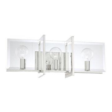 Designers Fountain Ethan 3-Light Nickel Modern/Contemporary Vanity Light Bar