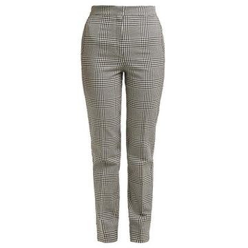 Erdem - Emanuelle Checked Silk Blend Trousers - Womens - Black White