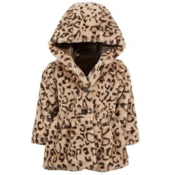 First Impressions Baby Girl Leopard Fur Coat