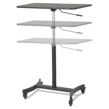 Victor High Rise Mobile Adjustable Sit-Stand Workstation 30 3/4 x 22 x 44 Black
