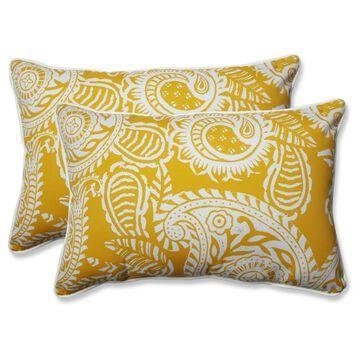 Outdoor/Indoor Over-Sized Rectangular Throw Pillow Set of 2 - Pillow Perfect