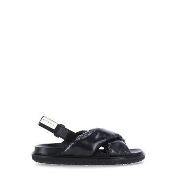Marni Leather And Fabric Sandal