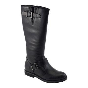 David Tate Women's Alpine Knee High Boot Black Calfskin