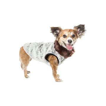 Pet Life Luxe 'Purrlage' Pelage Designer Fur Dog Coat Jacket