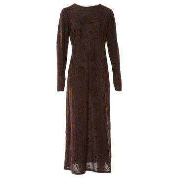Emanuel Ungaro Brown Viscose Dresses