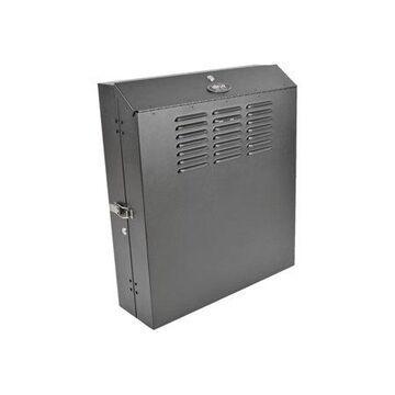 Tripp Lite 4U Wall Mount Low Profile Secure Rack Enclosure Cabinet Vertical - Rack - cabinet - wall mountable - black - 4U - 19