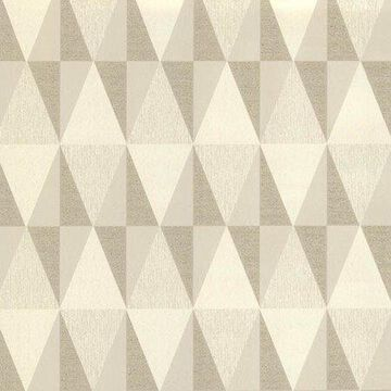 Brewster Jester Beige Diamonds Wallpaper