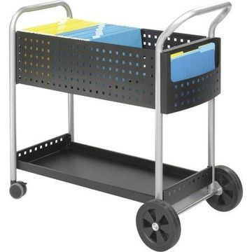 Safco, Scoot Mail Cart, 1 / Each, Black
