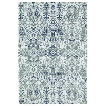 Kaleen Cozy Toes 5 x 7 Ivory Indoor Damask Area Rug Polyester in Off-White | CTC01-01-57