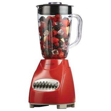 Brentwood 12 Speed Blender Glass Jar -Red