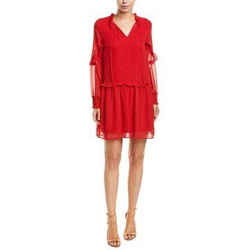 Kensie Chiffon Shift Dress - COAL/BLK