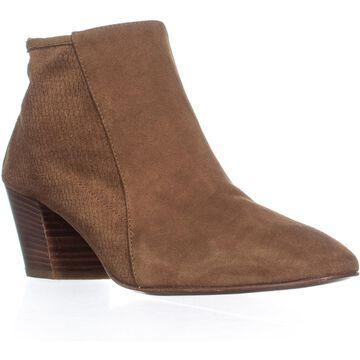Aquatalia Farrow Block Heel Ankle Boots, Cognac - 9 US