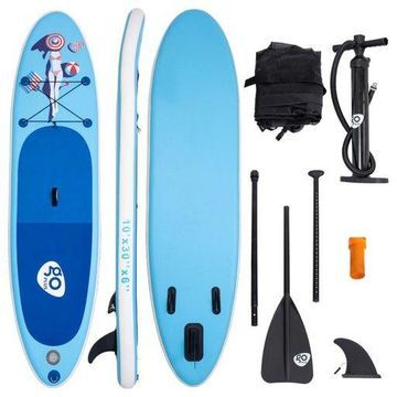 10 Inflatable Stand Up Paddle Board SUP W/ Fin Adjustable Paddle Backpack Sport