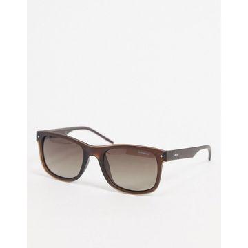 Polaroid square lens sunglasses-Brown