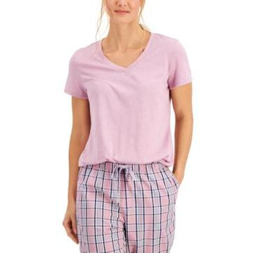 Charter Club Everyday Cotton V-Neck Pajama T-Shirt, Created for Macy's