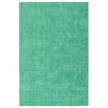 Kaleen Lauderdale 2 x 6 Mint Solid Coastal Handcrafted Runner Polyester in Green | LDD01-88-26