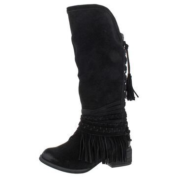 Naughty Monkey Womens Zarape Knee-High Boots Suede Tall