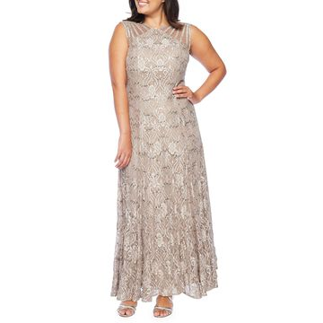 R & M Richards Sleeveless Evening Gown-Petite