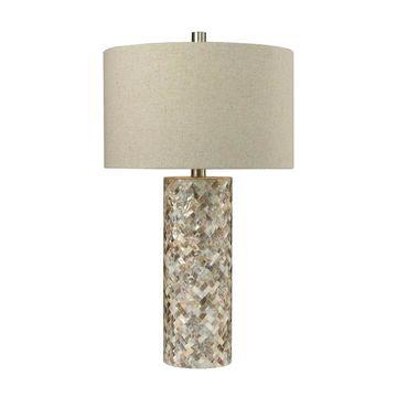 Dimond Lighting Mother of Pearl Herringbone Table Lamp