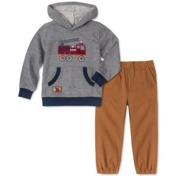 Kids Headquarters Baby Boys 2-Pc. Firetruck Hoodie & Twill Jogger Pants Set