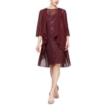 Sl Fashions 2-Pc. Open-Front Jacket & Sequined Sheath Dress Set
