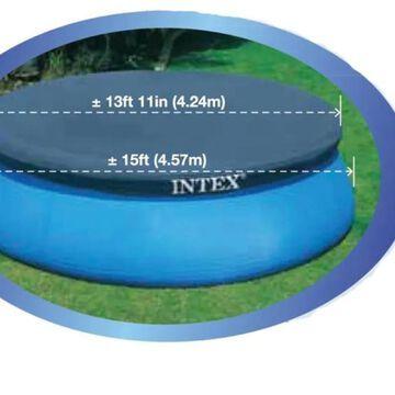 Intex 15-ft x 15-ft Intex Vinyl Leaf and Debris Pool Cover in Blue | 80229