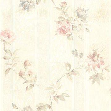 Brewster Floral Pink Mystify Wallpaper