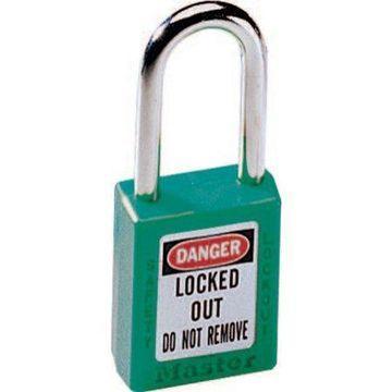 Master Lock No. 410 & 411 Lightweight Xenoy Safety Lockout Padlocks, Green