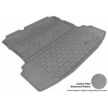 3D MAXpider 2011-2016 VW Jetta Sedan All Weather Cargo Liner in Gray with Carbon Fiber Look