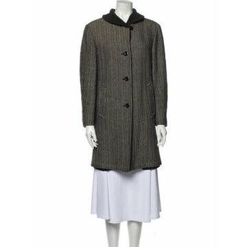 Wool Tweed Pattern Coat Wool