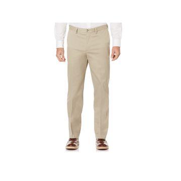 Savane-Big and Tall Mens Regular Fit Flat Front Pant