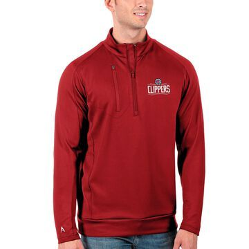 LA Clippers Antigua Big & Tall Generation Quarter-Zip Pullover Jacket - Red