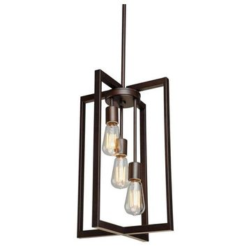 Artcraft Lighting Gastown 3-Light Chandelier, Oil Rubbed Bronze